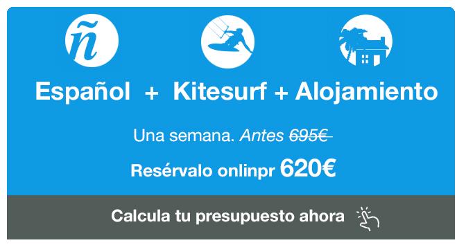 ESPANOL+KITESURF+ALOJAMIENTO