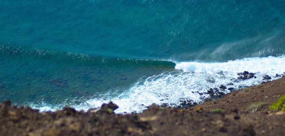 Hidden surf spot Fuerteventura