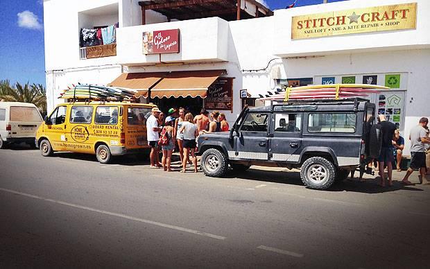 Lajares Surf town Fuerteventura