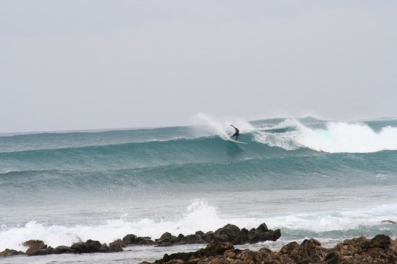 Surf at the North shore Fuerteventura